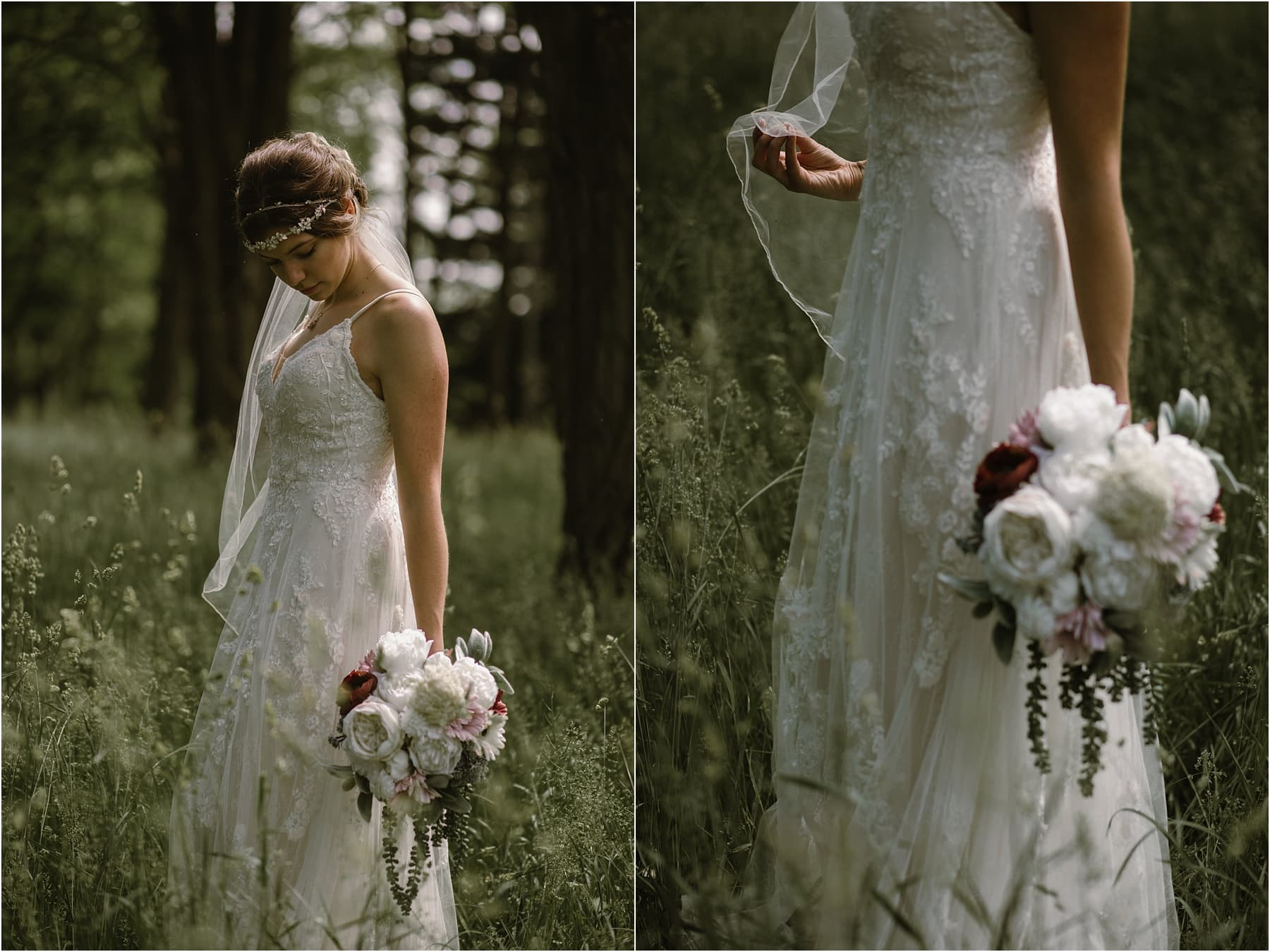 ethereal forest wedding photography michigan
