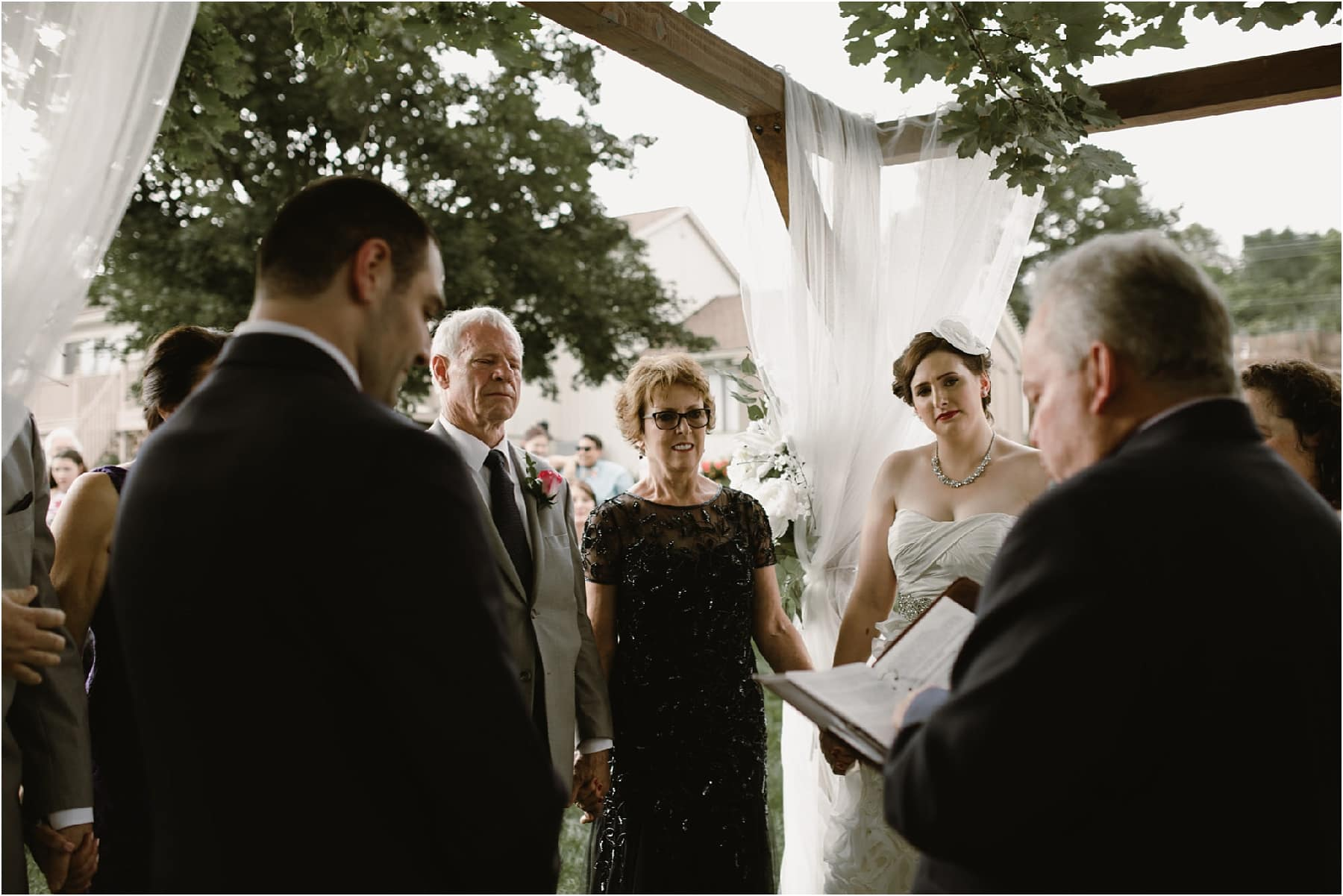 Intimate Backyard Wedding Ann Arbor